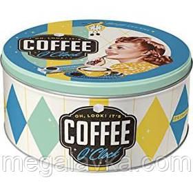 """Коробка для зберігання """"Round L Coffee o'clock"""" Ностальгічне Art (30606)"""