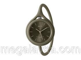 Часы универсальные Lexon Take Time с ремешком из силикона, хаки