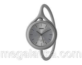 Часы универсальные Lexon Take Time с ремешком из силикона, серые