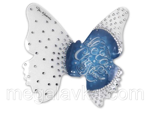 """Статуетка """"Метелик """"Новорічний синій мотив"""" велика"""