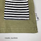 Комплект футболка, шорты Хаки Интерлок Murat baby Турция 74 (р) 86, фото 3