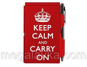 Кишеньковий блокнот з ручкою Keep calm