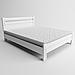 Кровать деревянная полуторная Вена (массив ясеня), фото 2