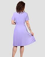Плаття приталеного силуету з гофрованої спідницею розміри 48-54