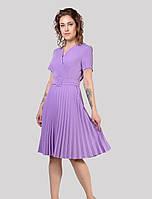 Ошатне літнє плаття з коротким рукавом і тканина стрейч креп