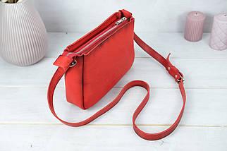 Сумка женская, Кожаная сумочка Надежда, Кожа Итальянский краст, цвет Красный, фото 2