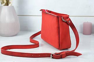 Сумка женская, Кожаная сумочка Надежда, Кожа Итальянский краст, цвет Красный, фото 3
