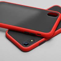 Противоударный матовый чехол для iPhone XR Красный