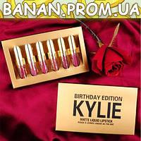 Набор жидких матовых помад Kylie Birthday Edition золото | banan.prom.ua