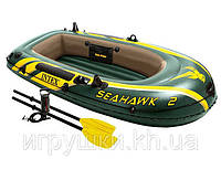 Лодка Intex двухместная 68347, 236 х 114 х 41 см в наборе вёсла и насос