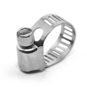 Хомут сталевий оцинкований , 8 мм D 6-16 мм INTERTOOL TC-0006