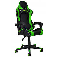 Кресло игровое с подушками стул с системой качания TILT кресло геймерское с наклоном спинки зеленое