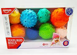 Набор сенсорных тактильных мячиков 8 шт | Массажные мячики для младенца |Tactile bug tower | Массажные шарики|