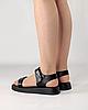 Сандалии женские кожаные чёрные на липучках MORENTO, фото 3