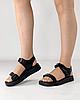 Сандалии женские кожаные чёрные на липучках MORENTO, фото 5