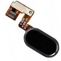 Cенсорная кнопка Meizu M3 Note  – шлейф кнопки meizu m 3 note + сенсорная кнопка Мейзу М3 Ноте черная