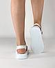 Сандалії жіночі шкіряні білі на липучках MORENTO, фото 4