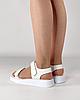 Сандалии женские кожаные белые на липучках MORENTO, фото 3