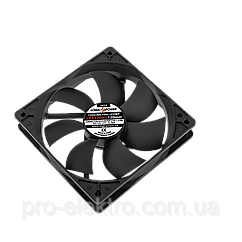 Вентилятор 3pin + 4pin 120 мм (Molex питание) BLACK LP F12NBD