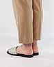 Шлепанцы женские кожаные мятные MORENTO, фото 3