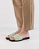 Шлепанцы женские кожаные мятные MORENTO, фото 2