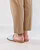 Шлепанцы женские кожаные голубые MORENTO, фото 3