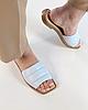 Шльопанці жіночі шкіряні блакитні MORENTO, фото 5