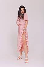 Женское платье, супер - софт, р-р универсальный 42-46 (пудровый)