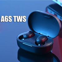 Беспроводные A6S TWS Airdots блютуз наушники сенсорные с микрофоном и кейсом