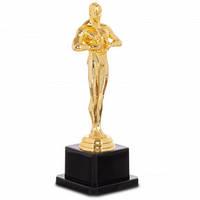 Наградной приз ОСКАР 18 см. из металлизированного пластика на основании