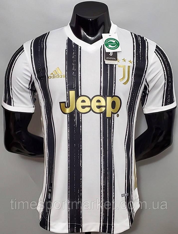 Футбольная форма Ювентус домашняя бела-черная 2020-2021  (Футболка+шорты)