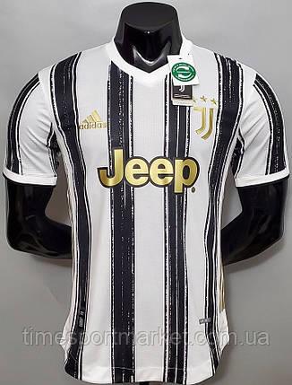 Футбольная форма Ювентус домашняя бела-черная 2020-2021  (Футболка+шорты), фото 2