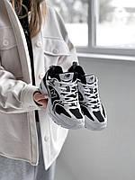 Кроссовки женские New Balance 530 White / Black черно-белые. Женские кроссовки Нью Беланс черно-белого цвета.