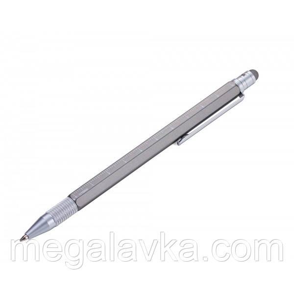 Кулькова ручка Troika Construction SLIM, тітаніум