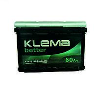 Акумулятор Klema better 6CT-60-1 60Ah/600A L+ 1 (Клема) WESTA (ВЕСТА) Автомобільний АКБ Кислотний Україна ПДВ