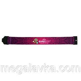 """Браслет текстильний """"Euro 2012"""", фіолетовий, середній"""