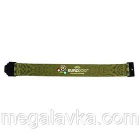 """Браслет текстильний """"Euro 2012"""", зелений, середній"""