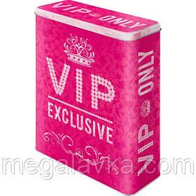 "Коробка для хранения XL""VIP Pink Only"" Nostalgic Art (30318)"