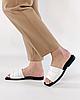 Шлепанцы женские кожаные белые MORENTO, фото 4