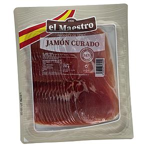 Хамон Maestro JAMON Curado Locheando, нарізка, 250г, 10шт/ящ