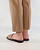 Шлепанцы женские кожаные бежевые MORENTO, фото 3