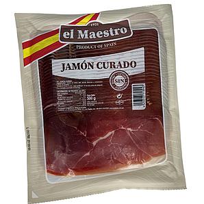 Хамон Maestro JAMON Curado Locheando, нарізка, 500г, 7шт/ящ