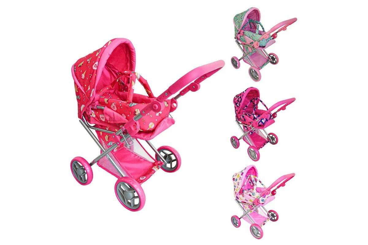 Дитяча коляска для ляльок 9346 Melogo рожева 2 в 1