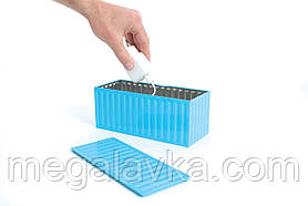 Коробка для зберігання побутових речей, блакитна