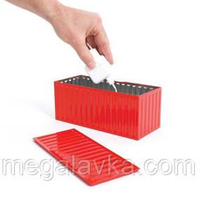 Коробка для зберігання побутових речей, червона