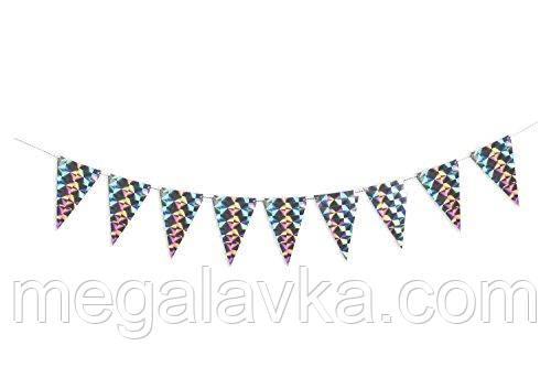 Декоративная гирлянда Birtyday Party, голографическая