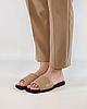 Шлепанцы женские кожаные бежевые MORENTO, фото 2