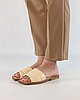 Шлепанцы женские кожаные светло-бежевые MORENTO, фото 2