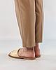 Шлепанцы женские кожаные светло-бежевые MORENTO, фото 3