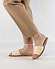 Шльопанці жіночі шкіряні світло-бежеві MORENTO, фото 4